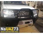 Бампер силовой передний на УАЗ Патриот «Рысь» с кенгурином