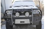 Бампер передний Партизан на УАЗ Патриот 2015 с кенгурином