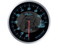 Датчик температуры выпускных газов 60 мм, синяя подсветка (выносной)