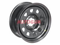 Диск колёсный стальной усиленный Off-road Wheels R18 УАЗ, Dodge Ram 1500, ГАЗ Соболь черный 5x139,7 8xR18 d110 ET+15 А07