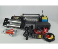 Лебедка электрическая 12V Electric Winch 12000lbs Съемный блок управления, стальной трос.