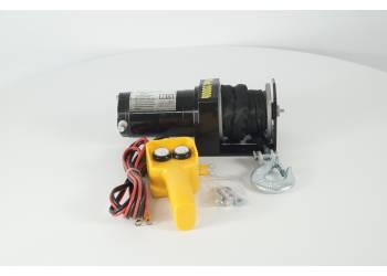 Лебедка электрическая 12V Electric Winch 2000lbs / 907 кг с кевларовым тросом