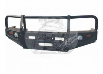 Бампер силовой передний TOYOTA LAND CRUISER 100 (1998-2003) фары Ангельские глазки и светодиодные габариты (аналог F1001-3B) HD98-FJ100A6937