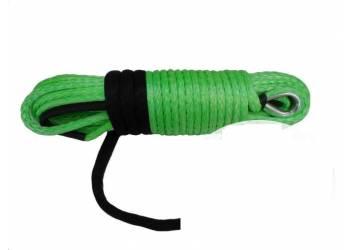 Трос для лебедки синтетический 12мм*28 метров (зеленый)