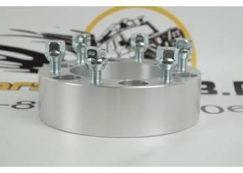 Проставка ступичная 6X139,7mm (6-5.5) алюминий (1шт) толщина: 50мм; резьба на шпильках: 12x1.5