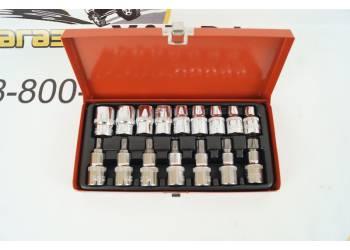 Набор головок 16 предм (головка 1/2 10-24мм   биты T30-T70) металл. кейс