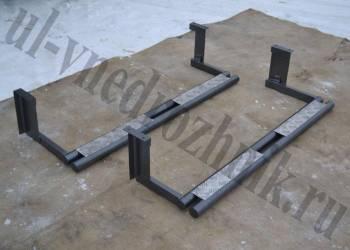 Подножки на УАЗ 469 сдвоенная труба с алюминиевыми накладками