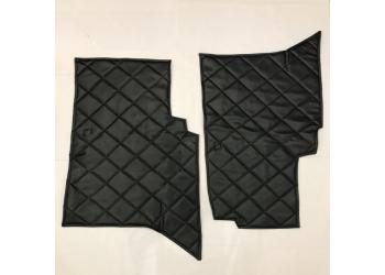Коврики под сиденье УАЗ 452 (2 предмет) (винил/кожа, поролон, ватин, стеганый ромб), серые