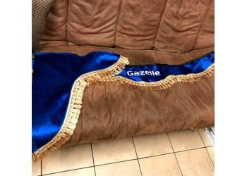 Ламбрикены в Газель, синий бархат