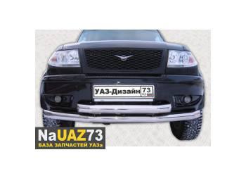 Дуга двойная - защита переднего бампера на УАЗ Патриот стандарт
