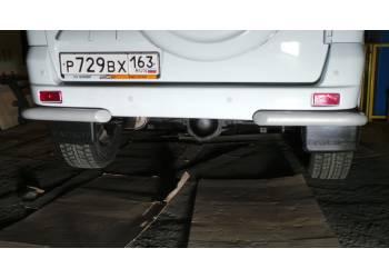 Защита заднего ТП на бампера уголки одинарные на новый Уаз Патриот (краш.)