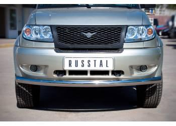 Защита переднего бампера D76 (дуга)  на УАЗ Патриот до 2014г.