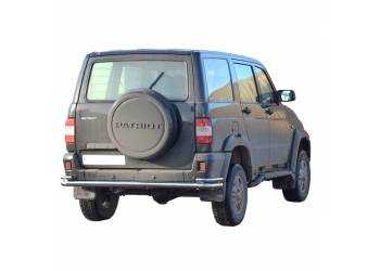 Защита заднего бампера УАЗ Патриот (труба) нерж.