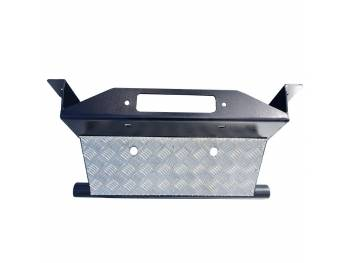Защита рулевых тяг на УАЗ Патриот с площадкой под лебедку и алюминиевой накладкой