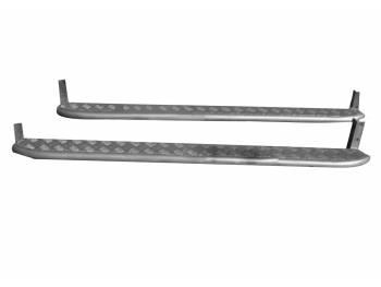 Подножки Гнутые на УАЗ Патриот дорестайл с алюминиевой накладкой