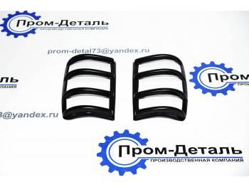Накладки заднего фонаря УАЗ-Патриот (черный) до 2014 г.