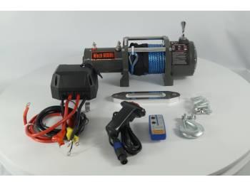 Лебедка электрическая 12V Electric Winch 6000lbs / 2722 кг (блок управления IP66) 3 кон кев.трос 8mm