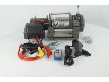 Лебедка электрическая 12V Electric Winch 6000lbs / 2722 кг (блок управления IP66) (3 контакта) сталь