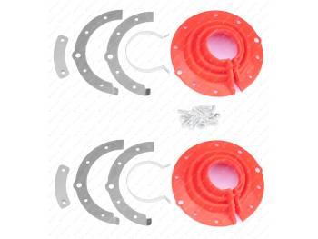 Пыльник поворотного кулака н/о УАЗ полиуретан (к-т 2 шт с крепежом) (3160-2304059-01)