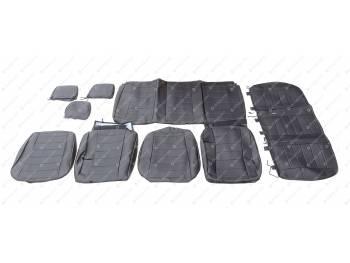 Чехлы сидений 2363 Пикап (черная экокожа) с 2015 г.в., завод