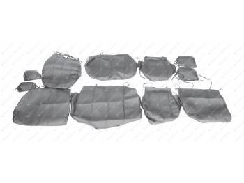 Чехлы сидений 3163 Патриот (черная экокожа) с 2015 г.в (с подлокотником)