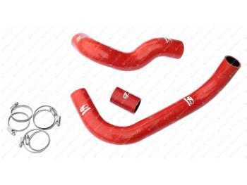 Патрубки радиатора УАЗ 452, 469, Хантер дв. 409 (3 шт.) до 2008 г. силикон с хомутами RedBTR