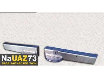 Бампер силовой задний из 2-х частей на УАЗ 452 Медведь