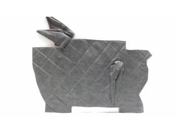 Коврик под рычаги УАЗ 452 темно-серый Прострочка ромбом