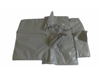 Коврик под рычаги УАЗ 469 светло-серый Винил.кожа, ватин, поролон (5мм)