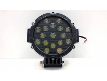 Фара светодиодная CH013В 51W 17 диодов по 3W, черный корпус