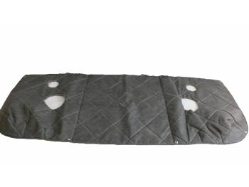 Утеплитель лобовой 452 темно-серый прострочка ромбом