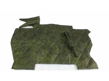Коврик под рычаги 452«охотник» (зеленая цифра) «прострочка ромбом»