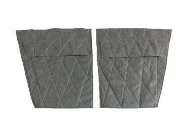 Обивка дверей УАЗ-469 к-т 4 двери темно-серый «прострочка ромбом»