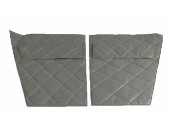 Обивка дверей УАЗ-469 к-т 4 двери светло-серый «прострочка ромбом»