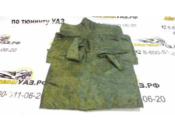 Коврик под рычаги УАЗ 469 охотник (зеленая цифра)