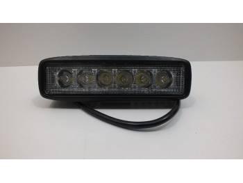 Фара светодиодная P003 18W 6 диодов по 3W (выпуклая линза) 4D дальний
