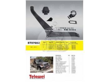 Шноркель Toyota Land Cruiser 70,71,73,75,78 и 79 с узким передом (бензин 3F 4.0л-I6/бензин 1FHZ-FE 4.5л-I6/дизель 3B 3.л-I4/дизель 2H-4.0л-I6/дизель 1HZ 4.2л-I6) ST070B2