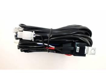 Комплект проводки для подключения светодиодных фар (балок) для двух фар (кнопка)