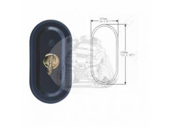 Зеркало заднего вида (310mmX155mm/диаметр крепления - 18mm) крепление болт универсальное SL-1609 B