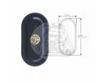Зеркало заднего вида (310mmX155mm/диаметр крепления - 18mm) крепление хомут универсальное SL-1609