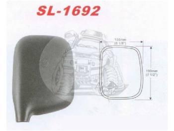 Зеркало заднего вида (195mmX150mm/диаметр крепления - 22mm) крепление под шар Toyota Hiace Toyota Quick Delivery Toyota Regius Ace LH#### SL-1692