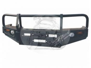 Бампер силовой передний TOYOTA LAND CRUISER 105 (1998-2003) фары Ангельские глазки и светодиодные габариты HD13-FJ105-A6936