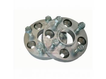Проставка ступичная 4X114,3mm (4-4.5) алюминий (1шт) (толщина: 20мм, центральное отверстие 66.1mm, резьба на шпильках: 1.5) 4X114,3