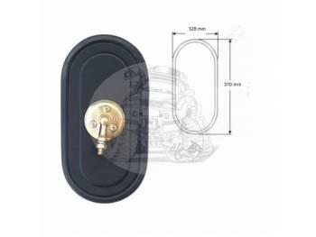 Зеркало заднего вида (250mmX128mm/диаметр крепления - 18mm) крепление болт универсальное SL-1608 B