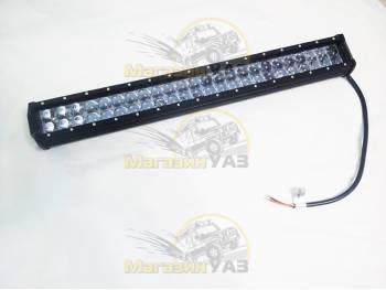 Фара светодиодная 144W 4D 48 диодов по 3Вт, выпуклая линза, сверх-дальний свет.