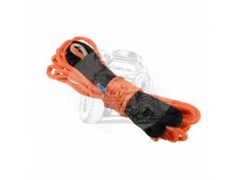Трос для лебедки синтетический 12мм*25 метров (оранжевый)