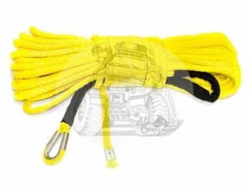 Трос для лебедки синтетический 12мм*28 метров (желтый)