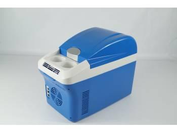 Термоэлектрический холодильник 15 литров, пластиковый (размеры камеры 280*185*280мм) СИНИЙ