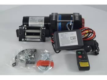 Лебедка электрическая 12V Electric Winch 3500lbs Съемный блок управления, синтетический трос.