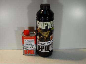 RAPTOR™ U-POL чёрный комплект 1л. (бутылка+отвердитель)